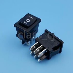 50pcs Black Rleil Rl3 10 6pin 3position On off on Dpdt Mini Rocker Switch