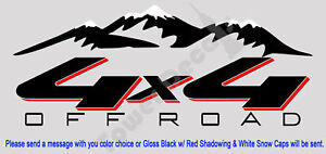 4x4 Offroad Mountain Snow Cap Truck Bed Side Decal Fits Chevy Dodge Ford Nissan
