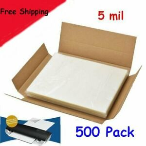 5 Mil 500 Pack Letter Size Thermal Laminator Laminating Pouches 9 X 11 1 2 Sheet