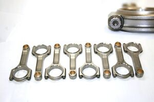 Chevy Sbc 6 000 2 0 Rj Forged 4340 Pro I beam Connecting Rod W arp 8740 Bolts