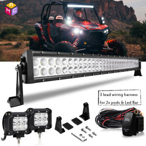 30 Led Light Bar For Polaris Rzr Xp900 800 Rzr4 Crew Xp1000 Ranger 900 800 570x