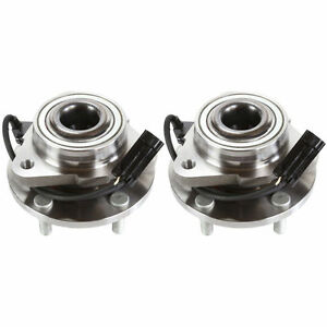 Pair Front Wheel Hub Bearing For 2000 2001 Chevrolet Blazer 2 Wheel Drive Only