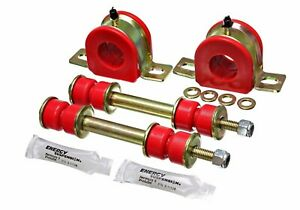 Energy Suspension 3 5178r 1 25 Red Poly Front Stabilizer Sway Bar Bushing Set