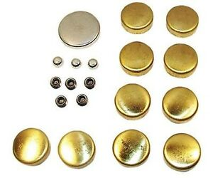 Engine Works 60400 Small Block Chevy 400 Brass Freeze Plug Kit Cam Plug Sbc