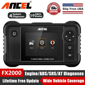 Ancel Fx2000 Scanner Obd2 Diagnostic Tool Car Abs Srs Transmission Engine Check