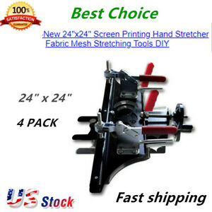 4 Pack Manual Mesh Stretcher Screen Printing Stretching Clamps 24 X 24