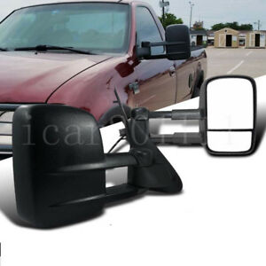For 97 03 Ford F150 F250 Light Duty Pickup Power Tow Mirror Set