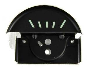 67 Camaro Console Oil Gauge Black Face