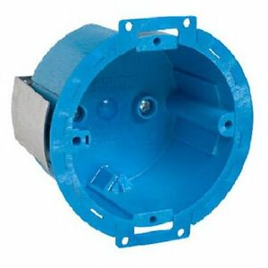 12 Carlon Bh614r Round Old Work Electric Wire Junction Ceiling Box 3 1 2 Blue