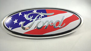 American Flag Ford 2004 2014 F150 Front Grille Emblem Oval Decal Badge Nameplate