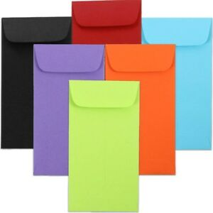 Jam Paper 7 3 1 2 X 6 1 2 Coin Envelopes Assorted Primary Colors 150 pack