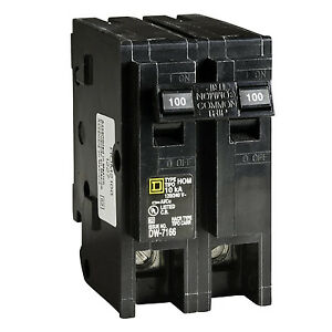Square D Hom2100cp Homeline 100 amp Two pole Circuit Breaker