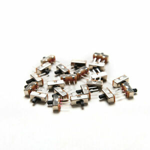 50x Spdt 3 pin Vertical Slide Switches Mini Panel Circuit Pcb Soldered Tiny 1p2t