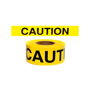 Yellow Barricade Caution Tape 1000 Foot Roll 4 Mil