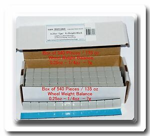 540 Pc 0 25 1 4oz Stick On Wheel Weight Balance 45 Strips Total Of 135 Ounces