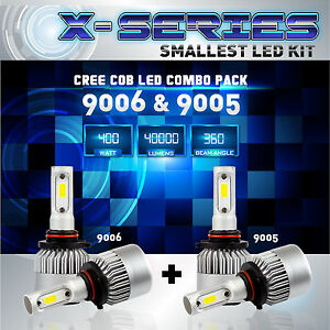 9006 9005 4pcs Led Total 400w 40000lm Cree Headlight High 6000k White Kit Bulbs