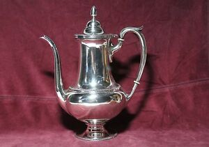 Fisher Silversmith Co Sterling Silver Coffee Pot 9447 9 15 Oz 430 Gr