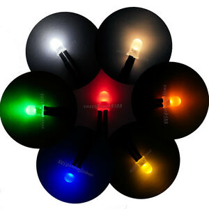5mm Diffused Led 12v Dc Prewired White Red Blue Green Yellow Orange Warm White