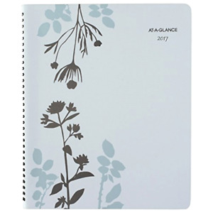 Weekly Monthly Appointment Book Planner 2017 8 1 2 X 11 Inch Botanique Organizer