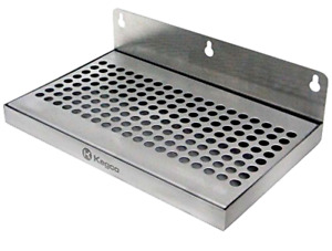 Stainless Steel Wall Mount No Drain Beer Drip Tray 6 X 10 Inch Beverage Tools