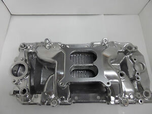 Bb Chevy 396 454 Eliminator Polished Air Intake Manifold Pc 3025 Pce 147 1033