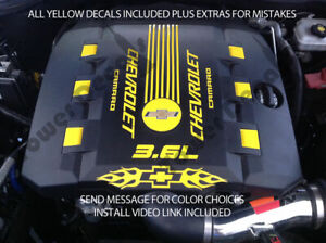 Rs V6 Engine Cover Decal Set Fits 2010 2015 Chevy Camaro Flames Accessories