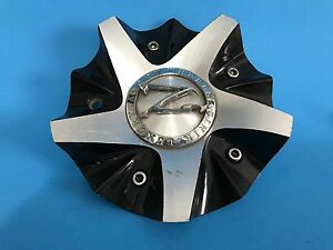 Rare Zinik Wheels Custom Wheel Rim Polish Black Center Cap Z250c cap Lg0708 cap