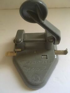 Wilson Jones Marvel Gray 2 hole Punch Made In The Usa