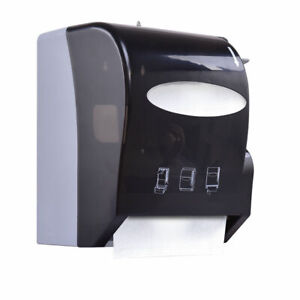 Roll Paper Towel Dispenser Wall Mount Heavy Duty Commercial Home Use Black