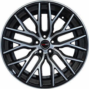 Set Of 4 Gwg Concave 20 Inch Black Flare Rims 20x8 5 5x108 Et35 Cb74 1