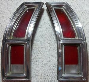 1972 Thru 76 Ford Ranchero Torino S W L H R H Tail Light Assemblies D2ob 13441ba