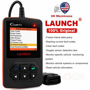 Launch Obd2 Auto Engine Check Diagnostic Fault Code Scanner Scan Tool Creader V