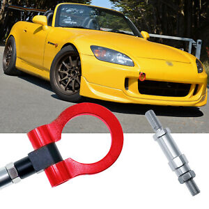 Red Track Racing Style Aluminum Tow Hook For Honda S2000 Ap1 Ap2 Fit Acura Tl