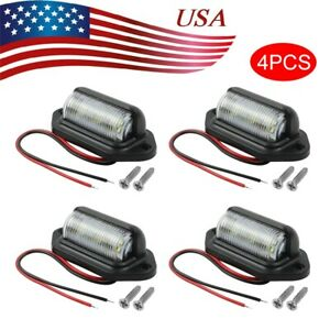 4pcs Universal 6 smd Led License Plate Tag Light Lamps For Truck Suv Bs40