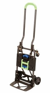 Cosco Shifter Multi position Heavy Duty Folding Hand Truck And Dolly Green