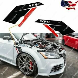 2x Apr Side Fender Scuttles Black Vinyl Sticker Decals For Vw Audi Porsche