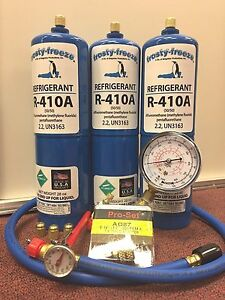 R410 R410a 3 Can Refrigerant Recharge Kit Each Can 28 Oz R410 410 R 410