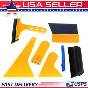 7x Car Window Tint Tools Kit Auto Film Tinting Scraper Application Installation