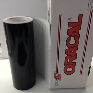 Oracal 651 1 Roll 12 X 10 Ft Black Gloss Vinyl For Craft Sign Cutter