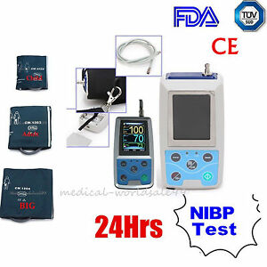 Lcd Ambulatory Blood Pressure Monitoring 24h Abp Test Holter Cuffs software Aa