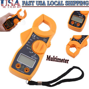 Auto Digital Multimeter Lcd Clamp Ac Dc Voltage Current Amp Ohm Tester Lead New