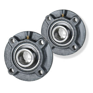 2x 2 4375 In 4 bolt Piloted Flange Cast Iron Ucfc212 39 Mounted Bearing New