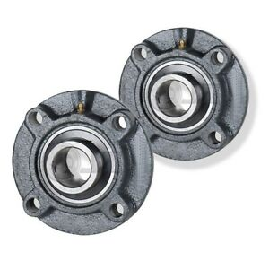 2x 1 75 In 4 bolt Piloted Flange Cast Iron Ucfc209 28 Mounted Bearing New