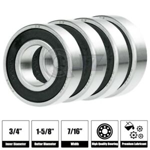 4x Sr12 2rs 3 4in X 1 5 8in X 7 16 Sr12rs Stainless Inch Steel Ball Bearing New