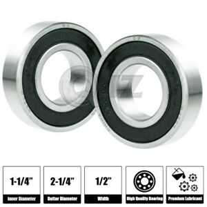 2x Sr20 2rs Bearing 1 1 4 X 2 1 4 X 1 2 Inch R20 Stainless Steel Ball Bearing