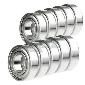 10x 6203 zz Ball Bearing 5 8 Inch X 40mm X 12mm Double Shielded Seal New Qjz