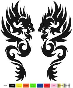 Tribal Dragon 2 Decal Stickers Right Left Direction Car Truck Choose Color