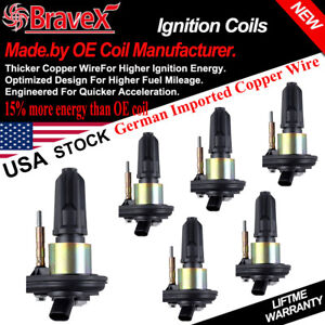Chevy Trailblazer Ignition Coil 6 Packs Gmc Canyon Envoy H3 On Plug New L6 4 2l