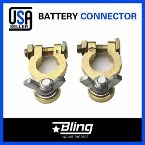 Marine Battery Terminal Connector Kit Caravan Rv Camper 4wd Copper Wing Nut