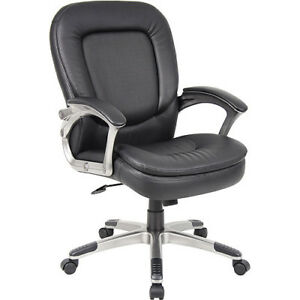 Boss Mid Back Executive Chair With Padded Armrests